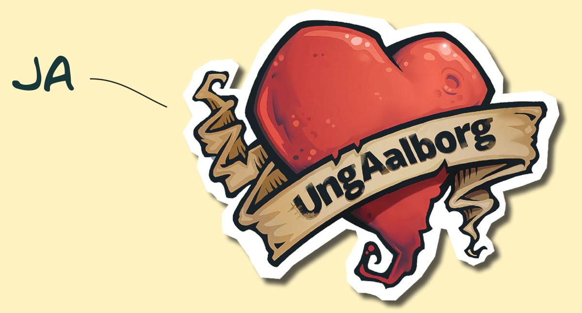 Hjerte som tatovering med teksten JA