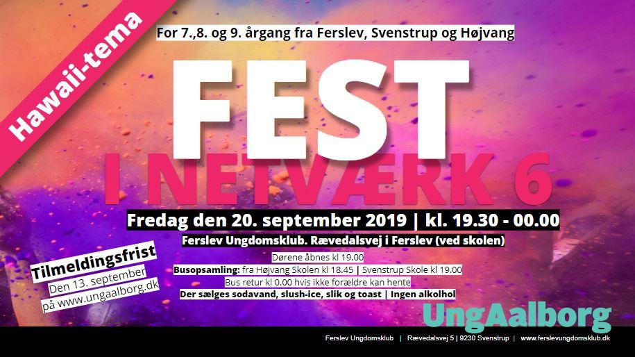 Fest/diskotek i Netværk 6